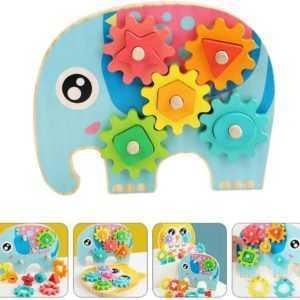 Wooden Elephant Gear Toy