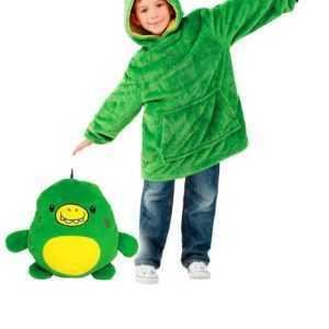 Huggle Pets Animal Hoodie – Green Dino