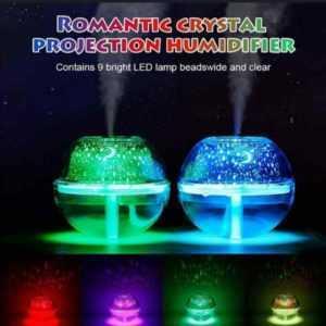 Crystal Night Light Projector Humidifier