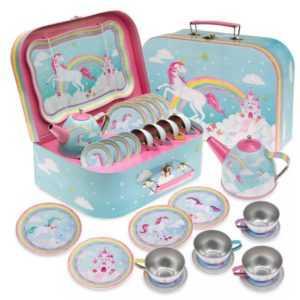 Mermaid and Unicorn Tin Tea Sets