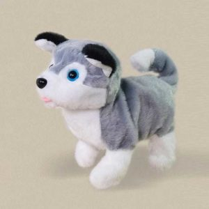 Cute Pet – Interactive Pet Playmate – Grey and White Puppy